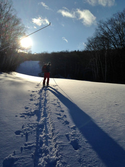 Skinning up before opening day.