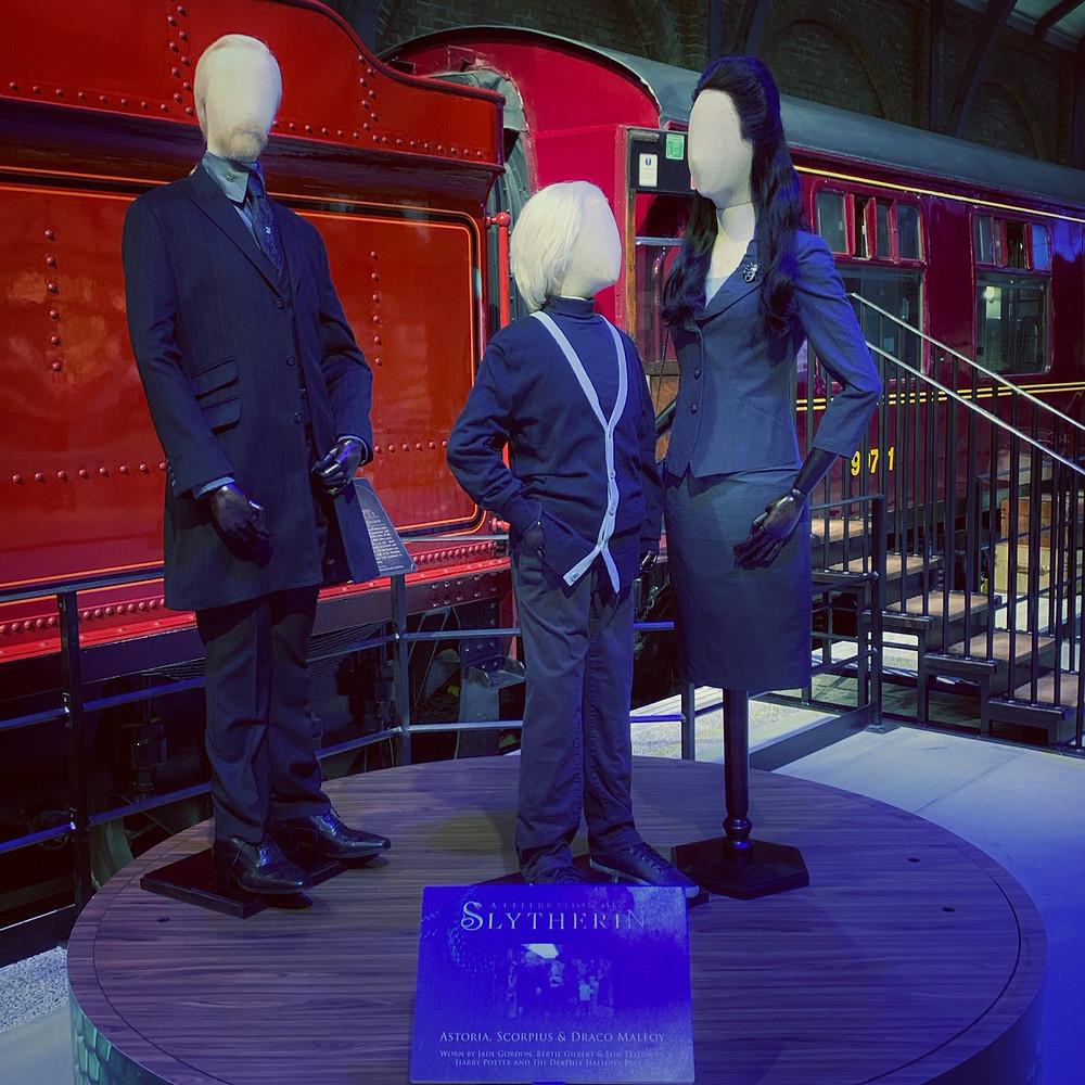 Draco, Astoria and Scorpius at King's Cross Costume Display