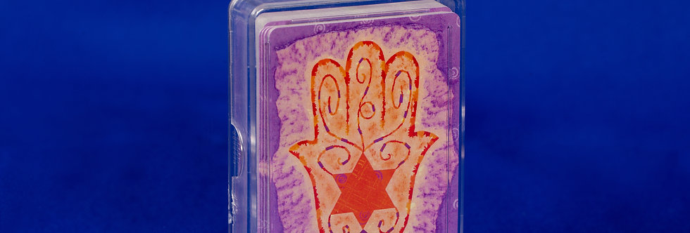 J-Card back: hamsa design