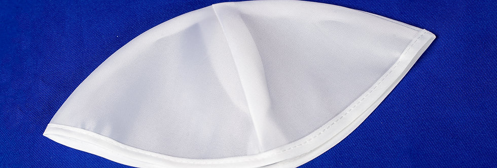 Simple white Kippah