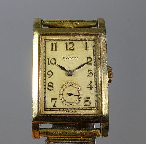 Vintage 9ct Gold Tank Style Rolex Wristwatch C.1949 #1