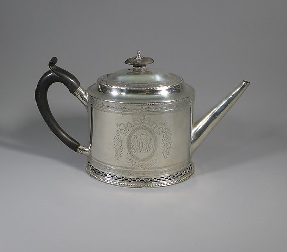 Rare Georgian Hester Bateman Hallmarked Sterling Silver Teapot 1782 #1