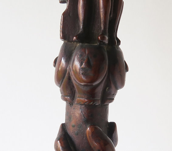 Superb Folk Art Carved Walking Stick