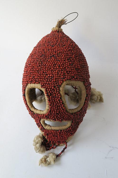 Vintage Nigerian Angas Dance Society Seed Mask