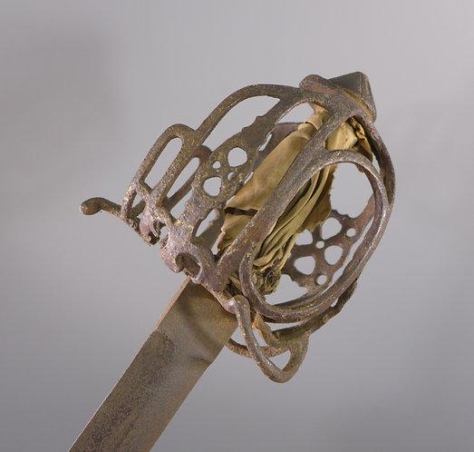18th C. Scottish Basket Hilt Sword