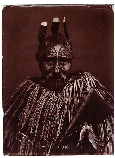 Rare Elizabeth Pullman Albumen Print Photograph 'Menehira Whatiwatihoe' Circa 18