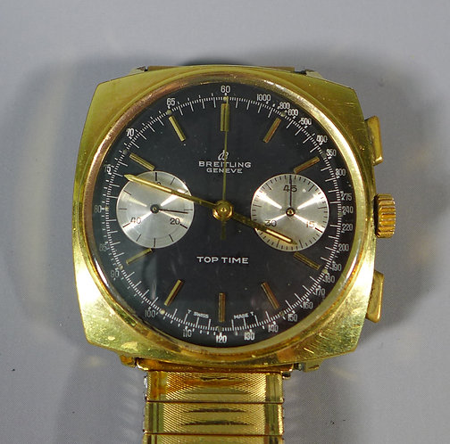 Fine Vintage Breitling Chronograph Top Time Wristwatch