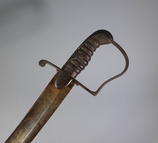 Fine Antique 1796 Pattern British Light Cavalry Officer's Sword Blue & Gilt #1