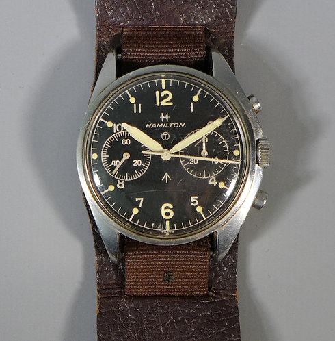 "Rare 1972 Hamilton ""Fab Four"" Chronograph Military Wristwatch #1"