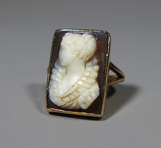 Antique 9ct Gold Hardstone Cameo Ring UK size H Main