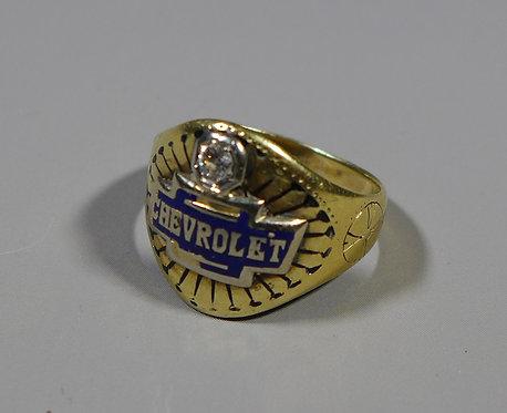 Rare American Gold Diamond Chevrolet Signet Ring Chicago Auto Show 1926 main