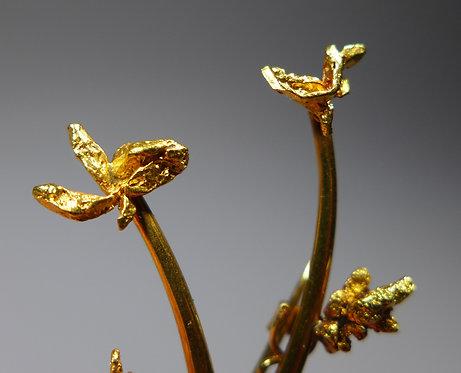 Fine Vintage 18ct Gold Natural Nugget Brooch 3.8 grams Closeup