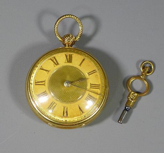 Fine Antique Georgian 18ct Gold Verge Pocket Watch by E Weightman London 1824 #1