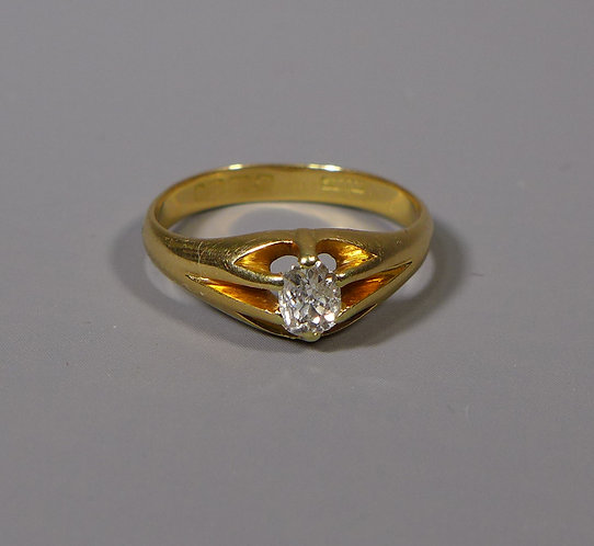 Vintage 18ct Gold and Diamond Ring UK Size Q #1