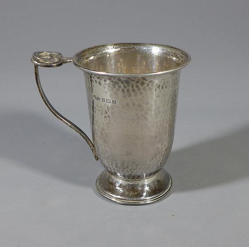 Fine Hallmarked Silver Arts & Crafts Christening Mug by A E Jones #1