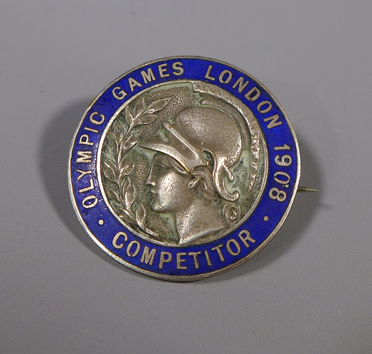 Olympic 1908 Competitor Badge WWI Medals Bill Bailey World Champion Cyclist main