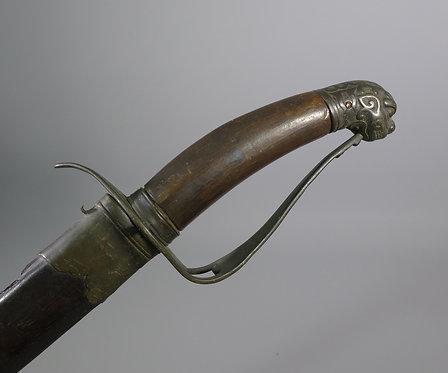 Antique Vietnamese Guom Sword in Scabbard #1