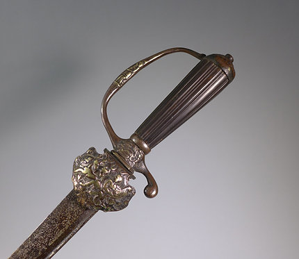 Late 17th C. Hunting / Hanger Sword Favoured by Naval Officers #1