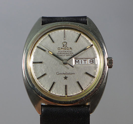 Fine Omega Chronometer Automatic Constelletion Stainless Wristwatch