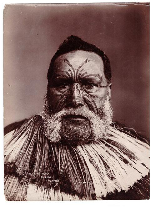 Rare Elizabeth Pullman Albumen Print Photograph 'Heta Te Haara Ohaeawai' Circa