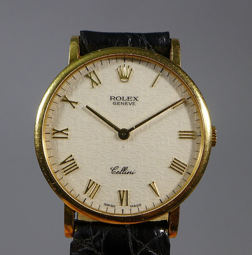 Fine 18ct Gold Gents Rolex Cellini Wristwatch Box and Papers #1