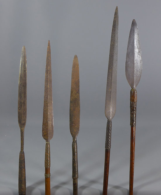 Various Antique African Tribal Spears Tips