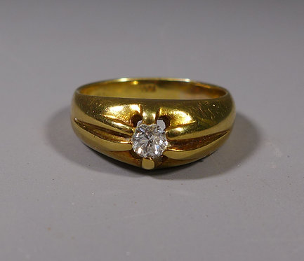 Vintage 18ct Gold and Diamond Ring London 1967 UK Size S #1
