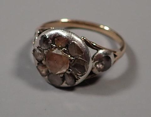 Fine Georgian Rose Cut Diamond Ring Size H #1