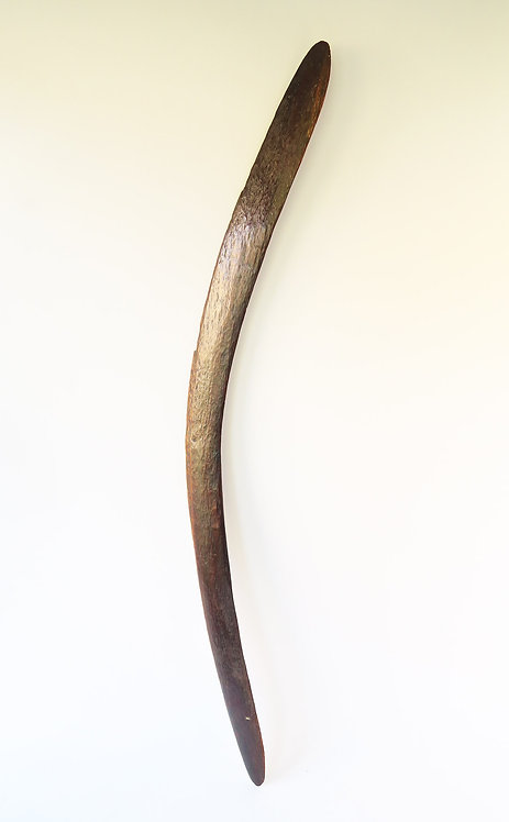 Very Large Stone Carved Antique Boomerang