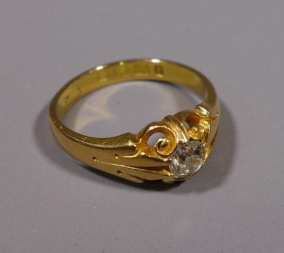 Antique 18ct Gold and Diamond Ring UK size O Birmingham 1879 main