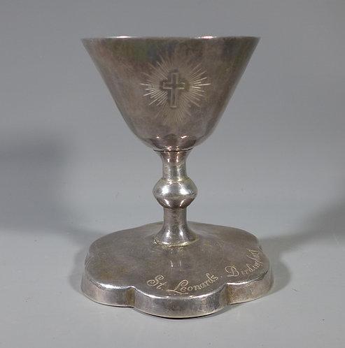 Fine Solid Hallmarked Britannia Silver Arts & Crafts style Chalice Grahame Heath #1