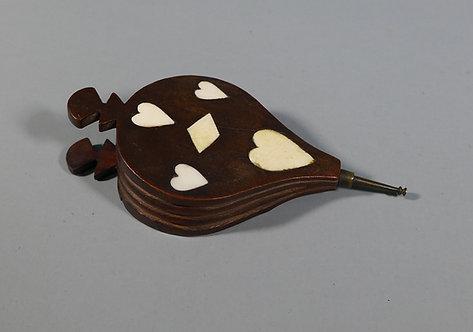 Fine Antique 19th C. Novelty Bellows Snuff Box Love Token #1