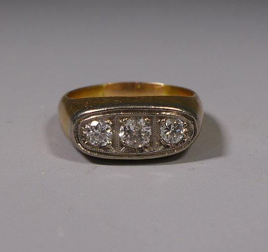 Vintage 18ct Gold and Diamond Ring UK Size P/Q #1