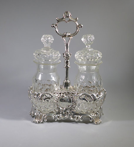Fine Victorian Hallmarked Sterling Silver Pickle Jar Cruet  London 1853 #1