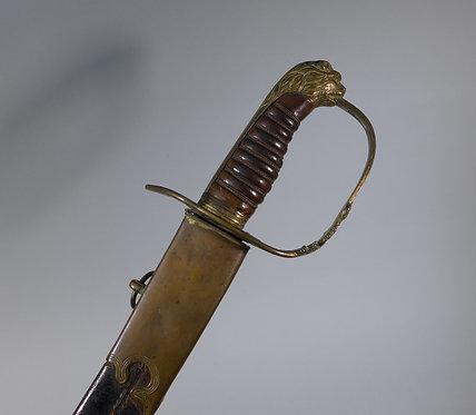 Georgian 1803 Pattern British Infantry Officers Sword Blue & Gilt Blade #1
