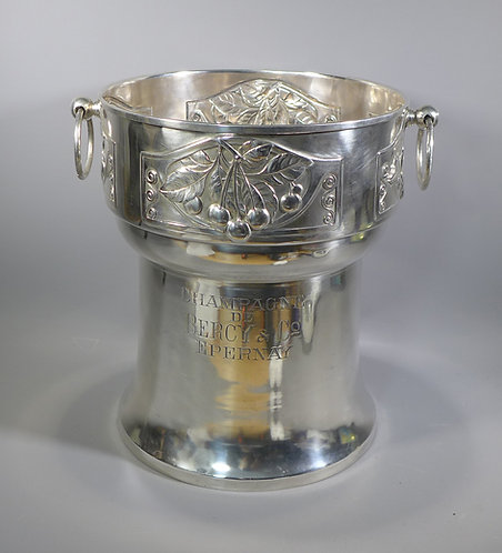 Large antique Art Nouveau Silver Plated Champagne bucket BERCY & CO.