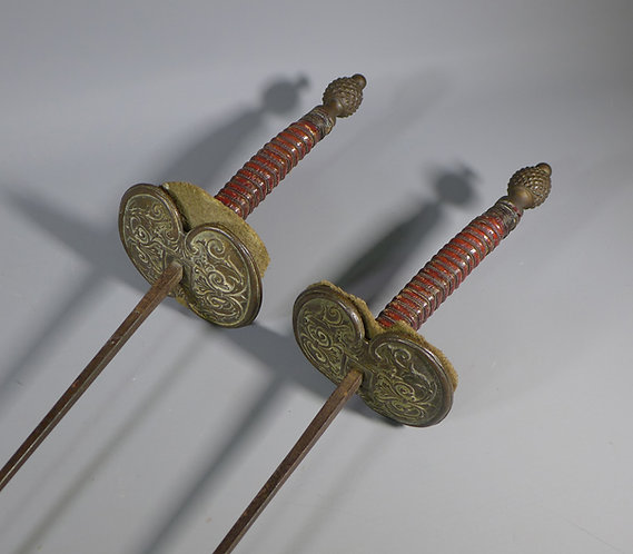 Fine Pair of 19th Century German Fencing Foils #1