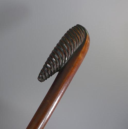 Fine African Zulu tribal Fluted Form Very Long Prestige Staff 163cm #1