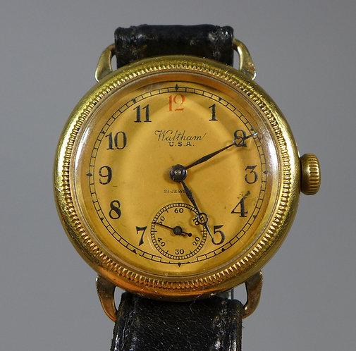Fine 18ct Gold Waltham WW1 Era Trench Style Wristwatch C.1913 #1