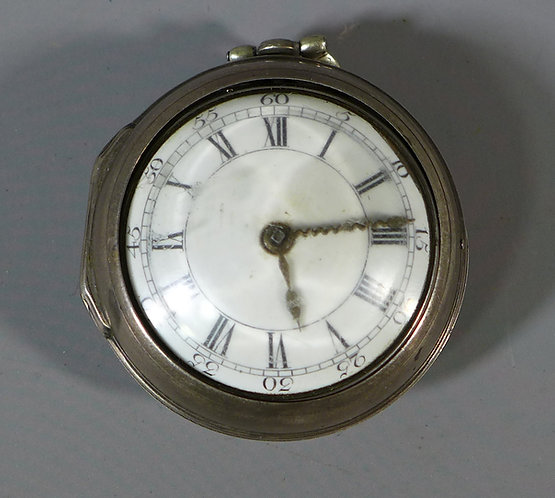 Fine Silver Pair Cased Verge Pocket Watch B. Chapman London 1769 #1