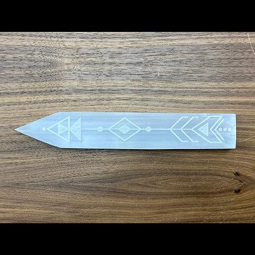 Selenite Arrow Charging Plate