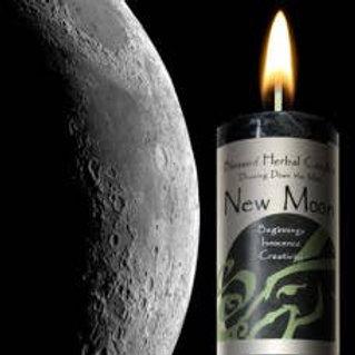 New Moon 2x7 Pillar Candle