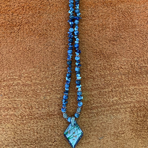 Long Sodalite Necklace
