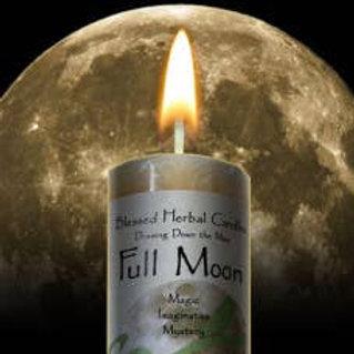 Full Moon 2x7 Pillar Candle