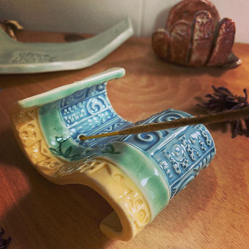 Scroll Incense Holder