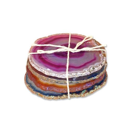 Agate Crystal Coaster Set