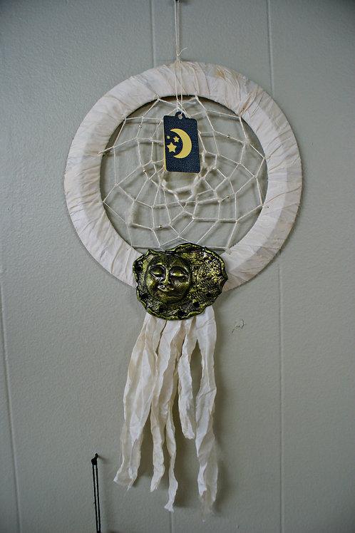 Dream Catcher Made From Vintage Sari Silk
