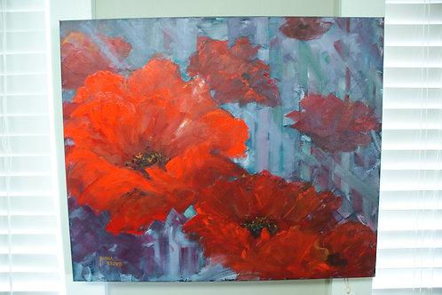 """Poppies"" Original Acrylic on Canvas"