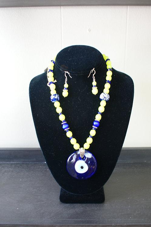 Evil Eye Necklace & Earrings