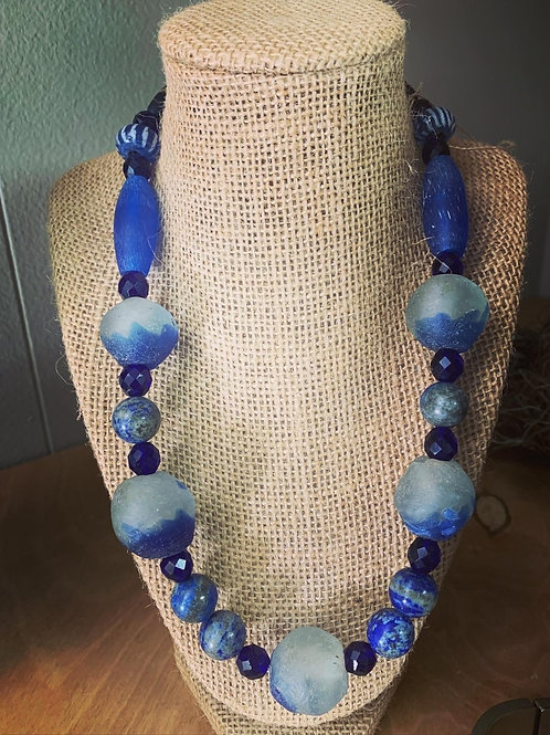 Handblown Glass Bead Necklace